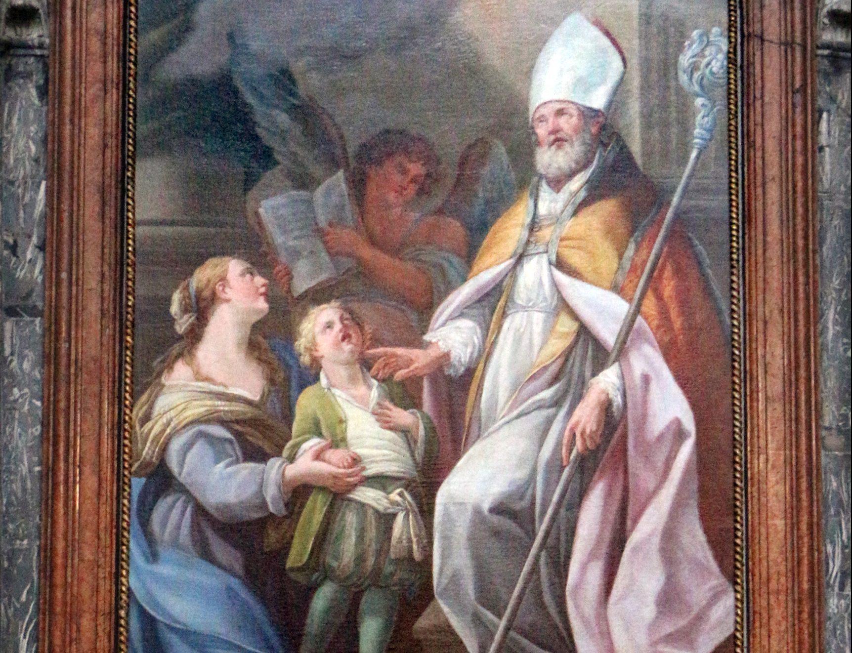 San Biagio salva il figlio della vedova. Miracolo