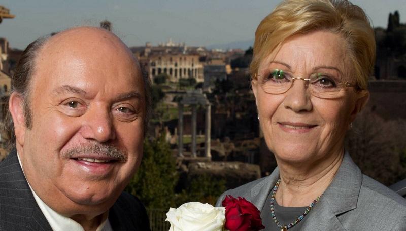 Nomina di Lino Banfi - Lino Banfi assieme alla moglie Lucia