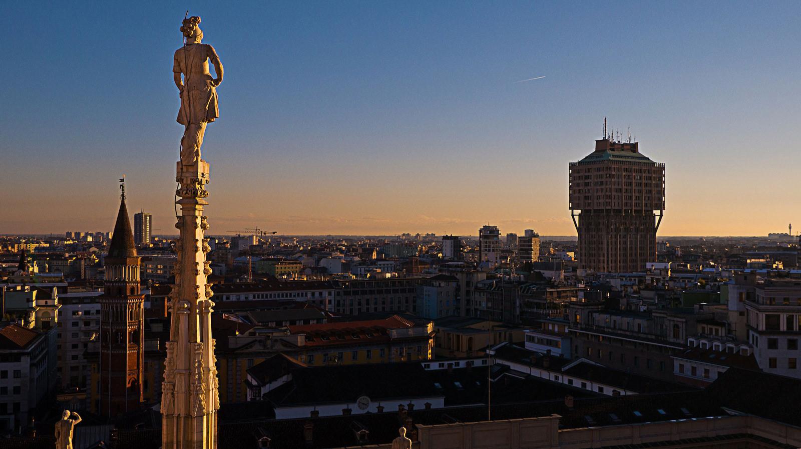 Città dell'anno - Milano tramonto