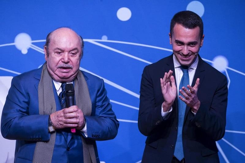 Nomina di Lino Banfi - Lino Banfi e Luigi di Maio in occasione della nomina a commissario dell'attore