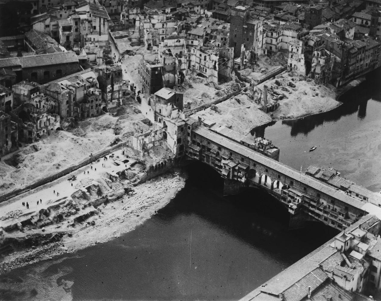 Corridoio Vasariano - Ponte Vecchio Bombardamenti