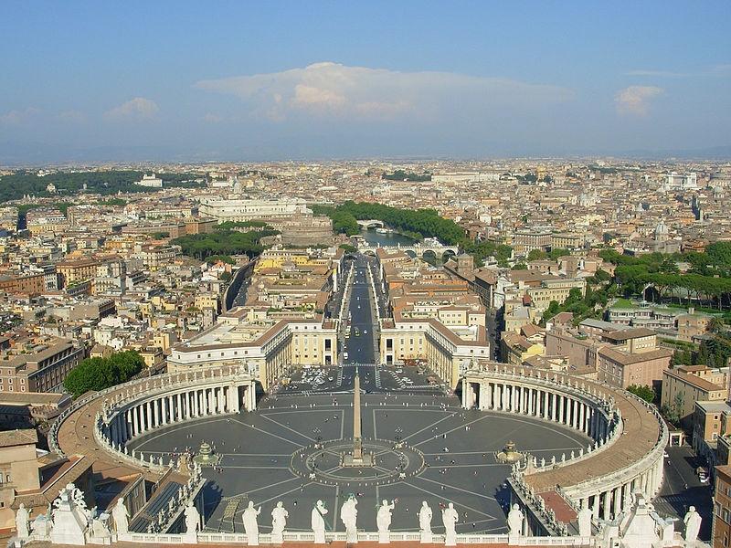 la basilica di San Pietro - veduta dalla Basilica