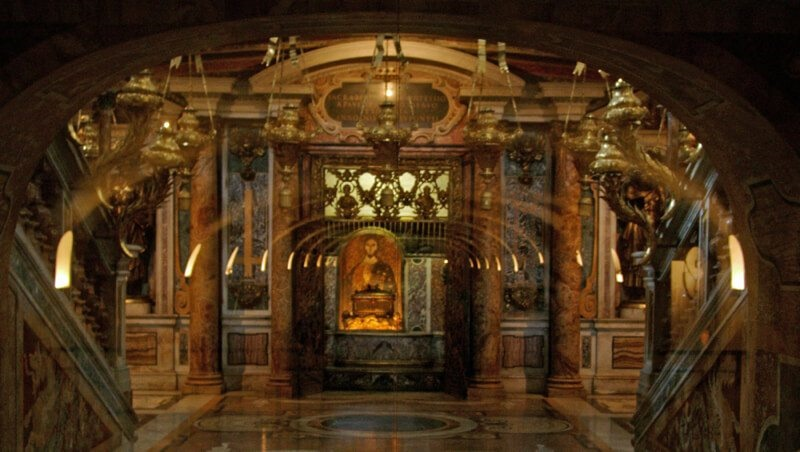 la basilica di San Pietro - grotte vaticane
