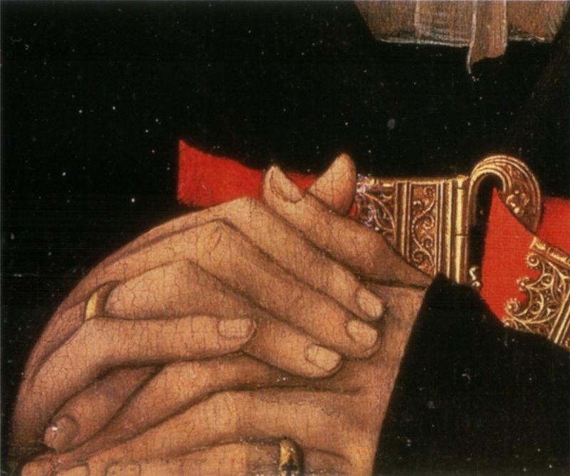 San valentino - particolare di affresco con promessa