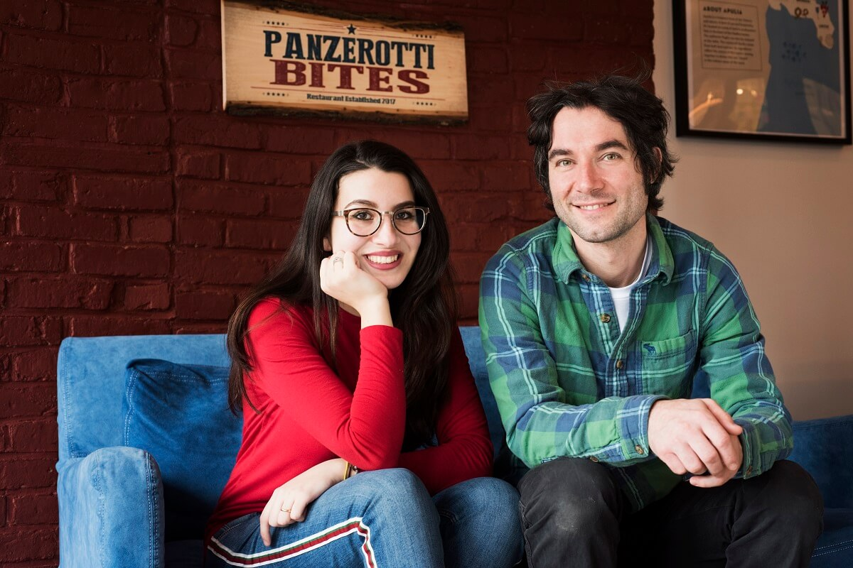 The owners of Panzerotti Bites