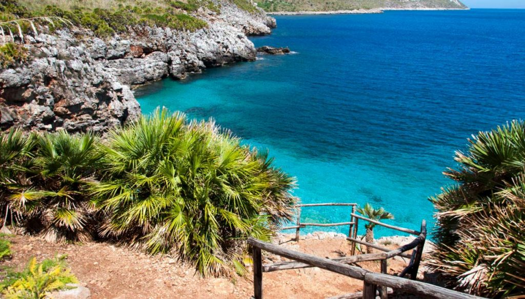 The beach of Cala Rossa, among the most beautiful beaches in Italy