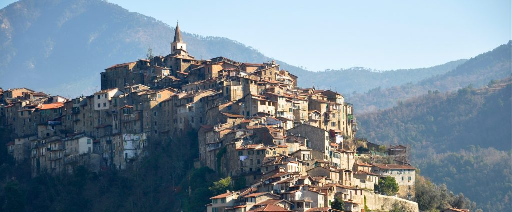 Apricale panoramic view