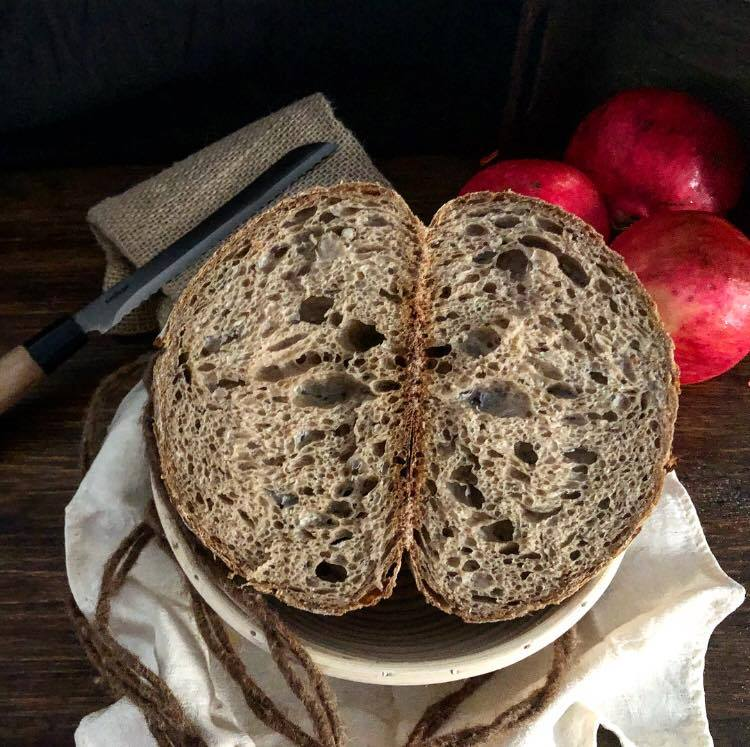 multigrain bread cut