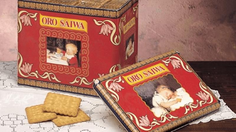 saiwa svolta italiana - foto di scatola in latta dei biscotti saiwa