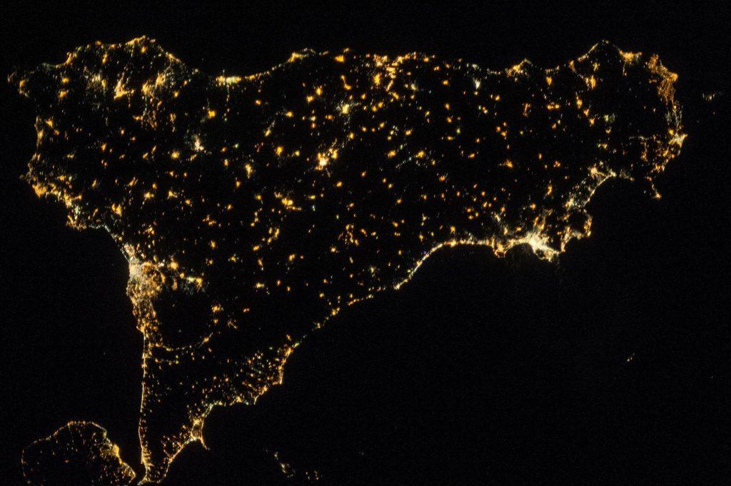 Cucina Siciliana. La Sicilia vista dalla stazione aerospaziale