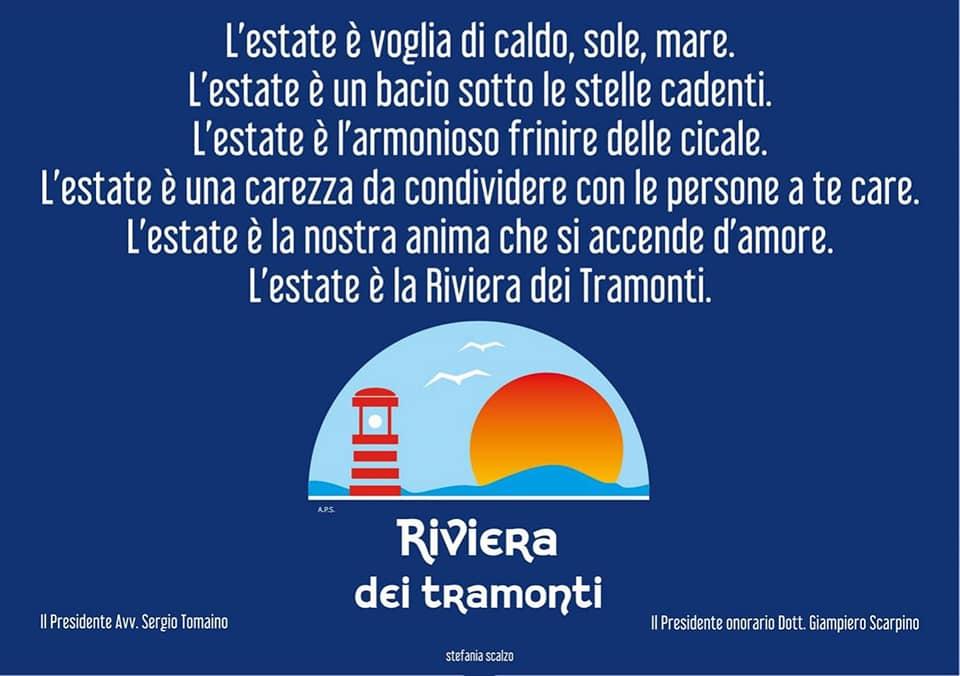 il logo dell'associazione riviera dei tramonti