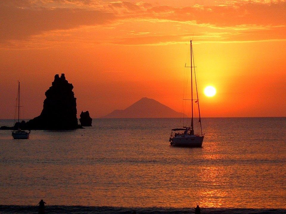 stromboli - suggestive image of the Aeolian islands