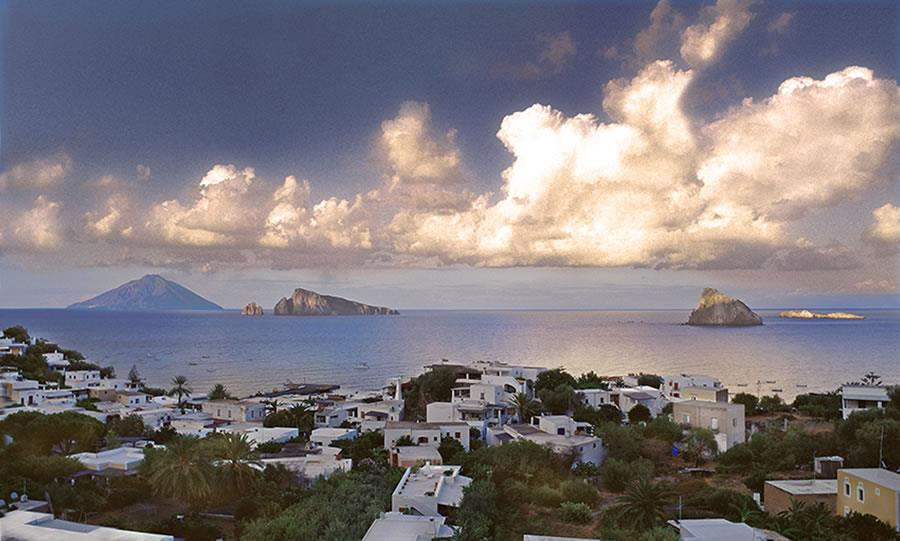 stromboli - view of one of the Aeolian islands