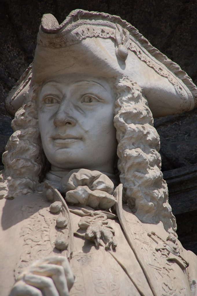 Statue of Charles III of Bourbon, promoter of the San Carlo Theater in Naples