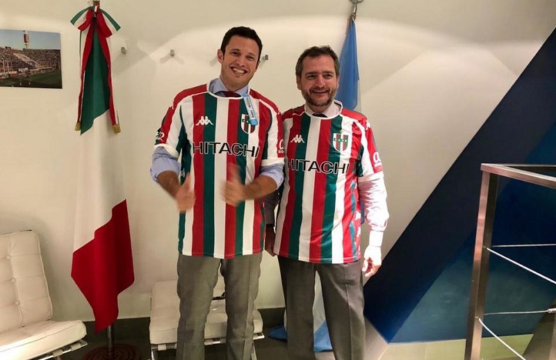 Vélez Sarsfield - the two Italian consuls present at the game