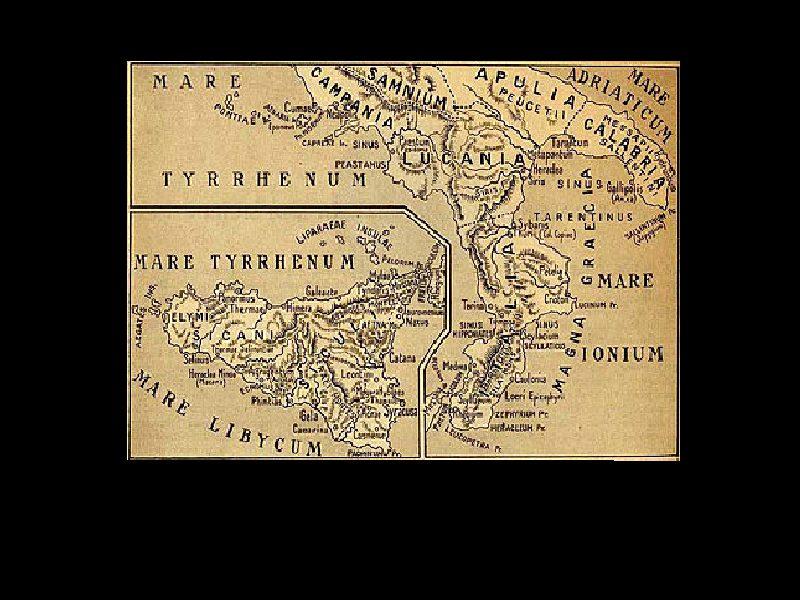 Origine del nome. Una mappa della Calabria