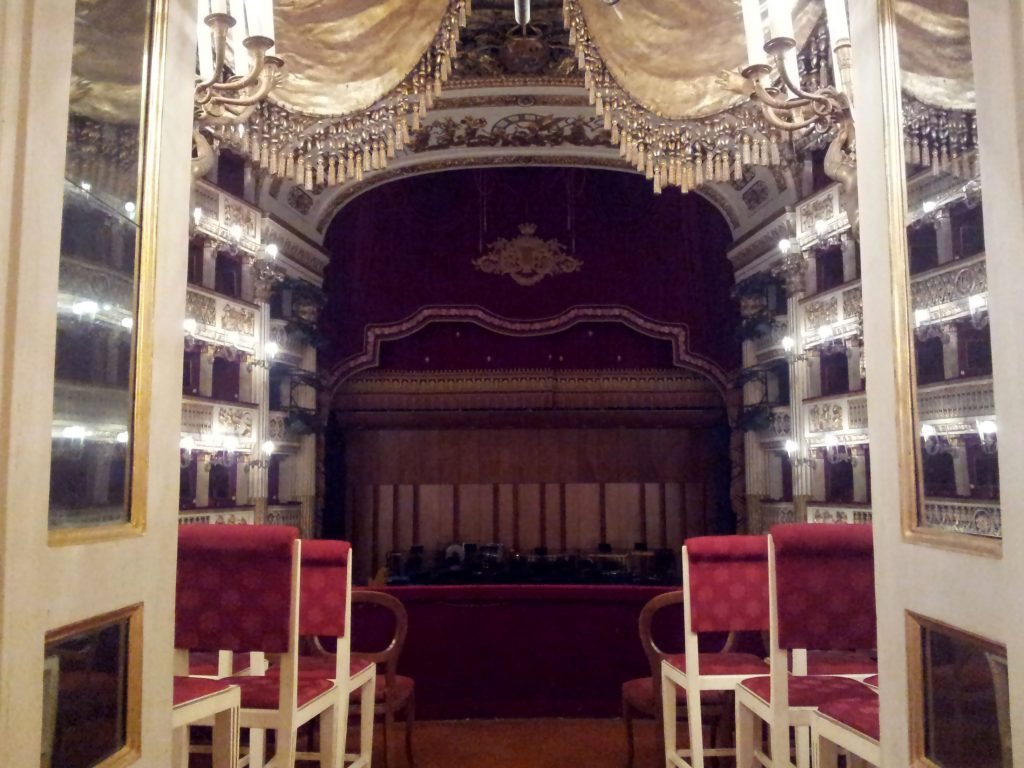 View from the royal stage of the Teatro San Carlo in Naples