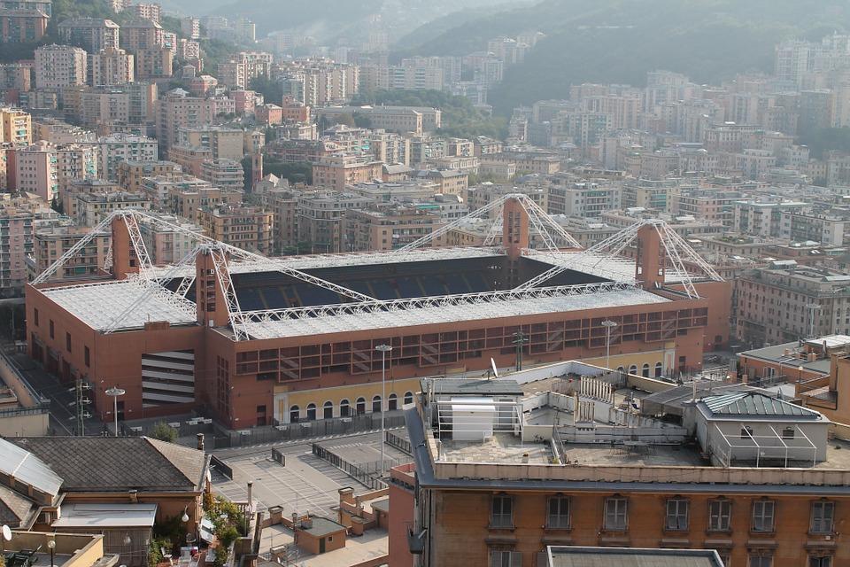 Veduta dello Stadio Marassi a Genova