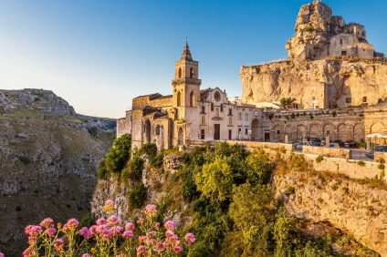 The oldest inhabited city, the cathedral of Matera