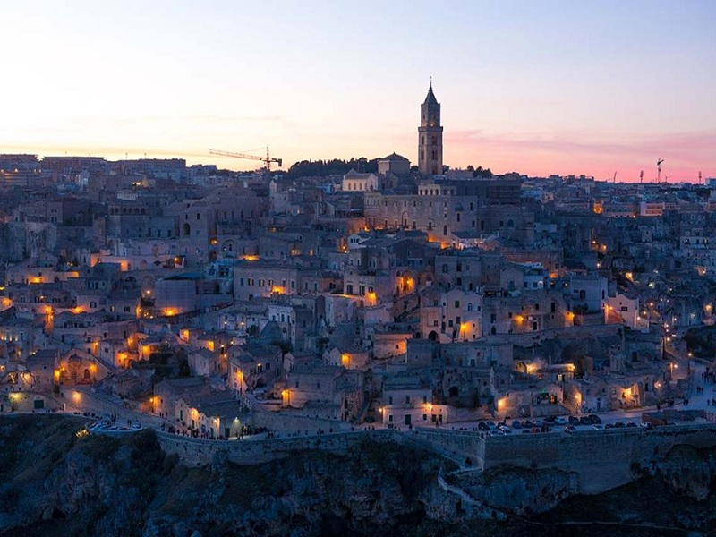 Oldest inhabited city. Matera in third place
