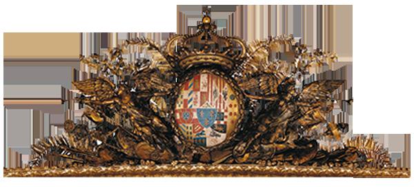 stemma delle due sicilie che fregia l'interno del Teatro San Carlo
