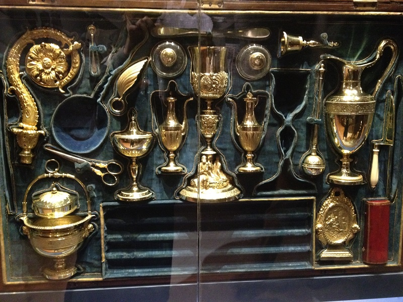 chapel of the treasure of san gennaro - case containing the jewels of the museum