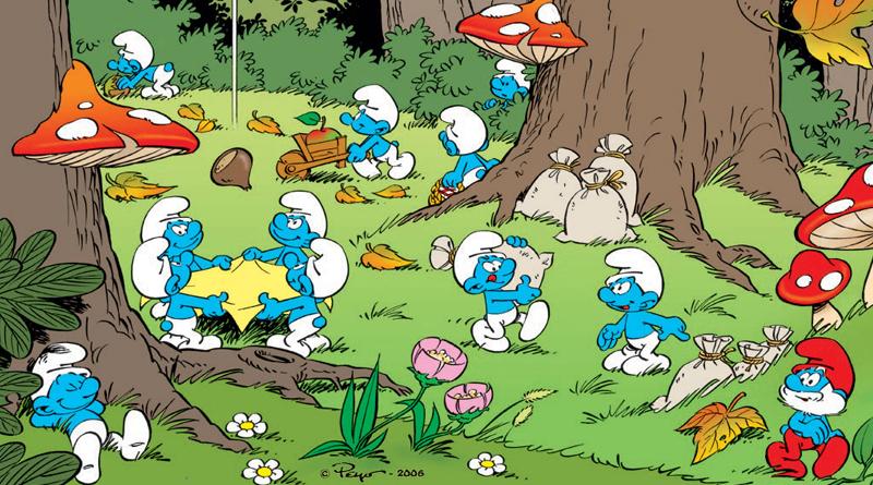 smurfs' village in the cartoon