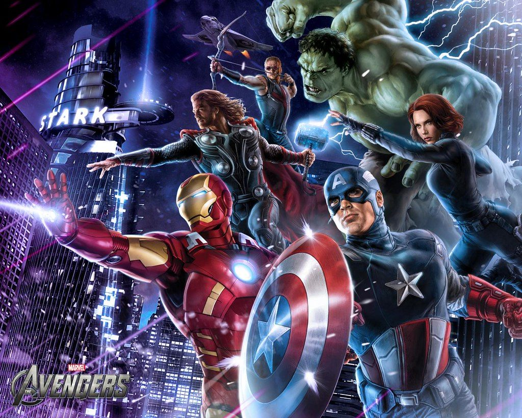 Avengers and the Russo brothers - photo of poster of the avengers film