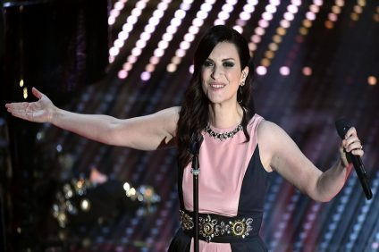 Laura pausini On san remo stage