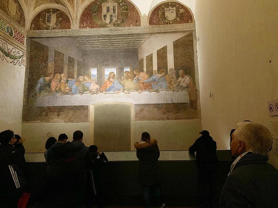 The Last Supper kept in the convent next to the sanctuary of Santa Maria delle Grazie in Milan