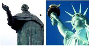 la statua della libertà - le statue a confronto
