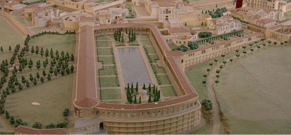 model of villa adriana