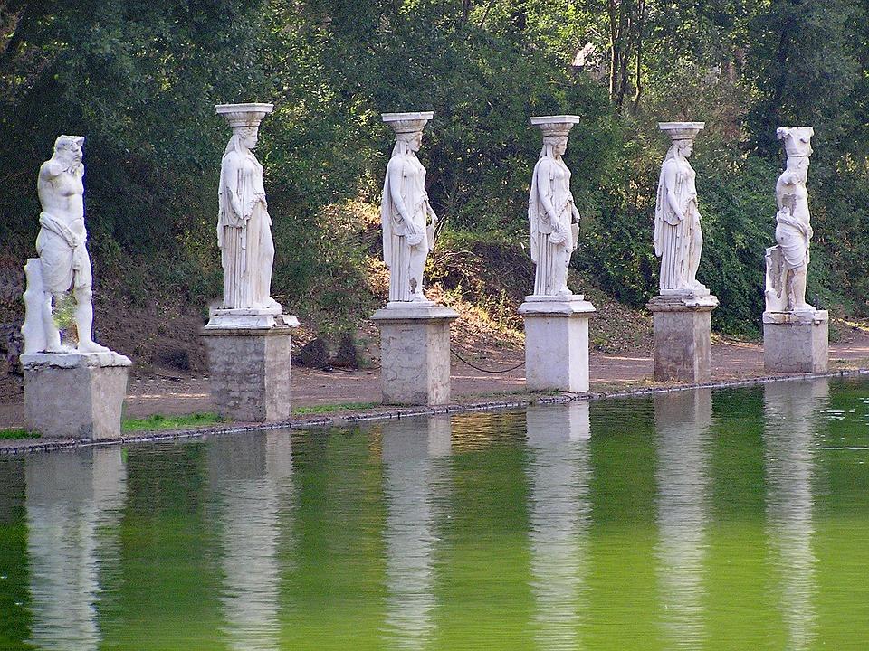 statue di villa Adriana