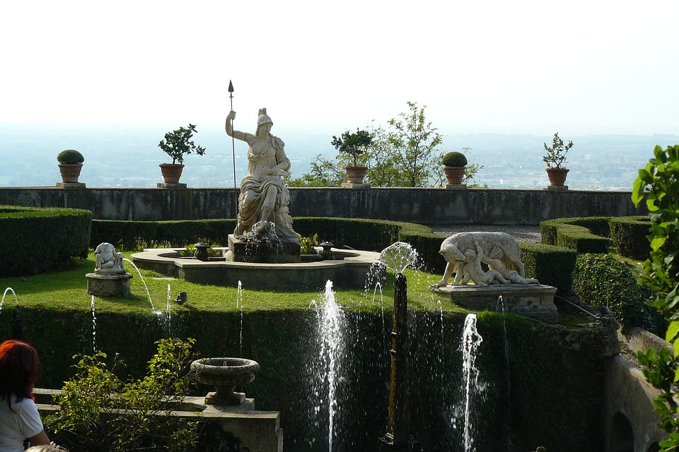 tivoli -detail of the garden of villa D'Este