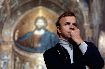 Franco Zeffirelli - image of the director in the church
