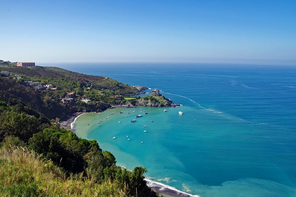 San Nicola Arcella. Panorama of the coast and the sea