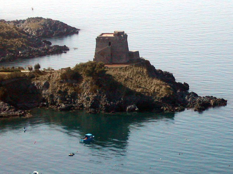 San Nicola Arcella. Watch tower overlooking the sea