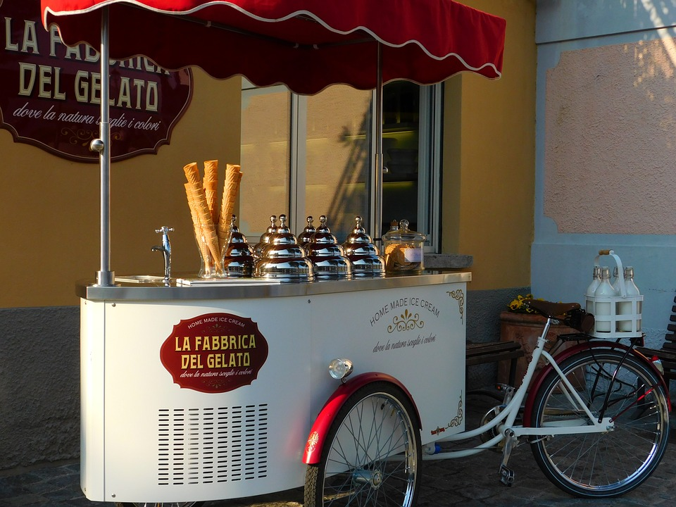 image of a modern ice cream cart