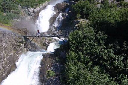 immagine delle cascate del Rutor