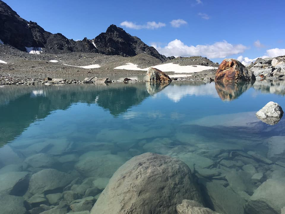the lakes around the glacier