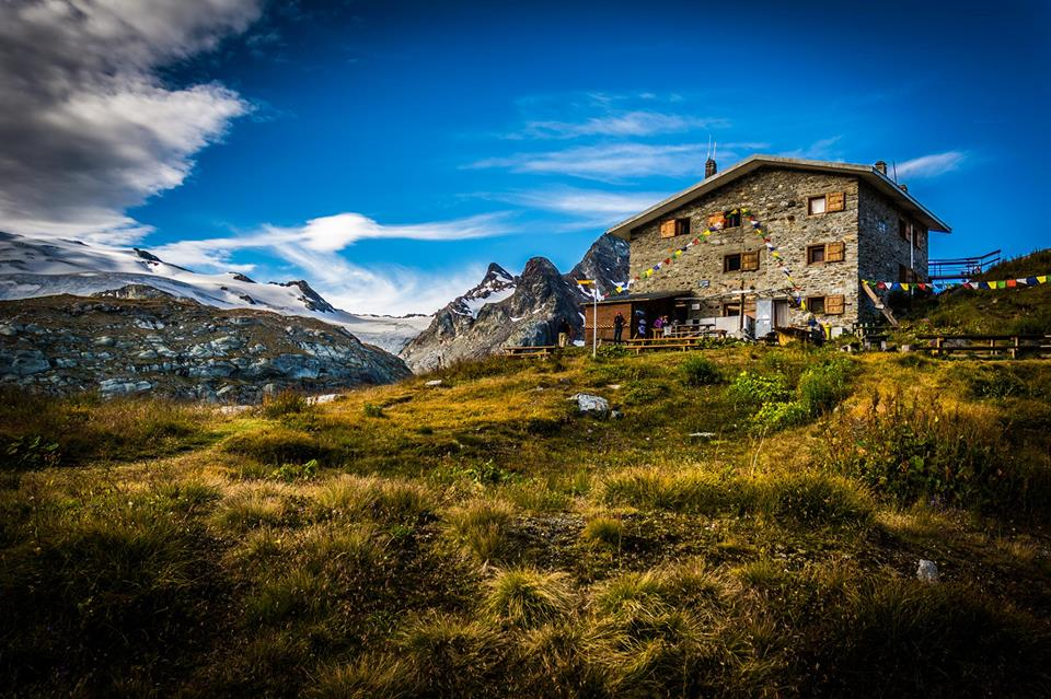 il rifugio vicino al ghiacciaio del Rutor