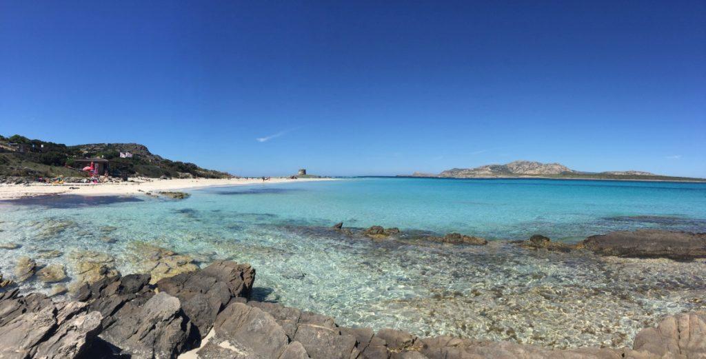 Spiaggia della Pelosa - orizzonte visto dalla spiaggia