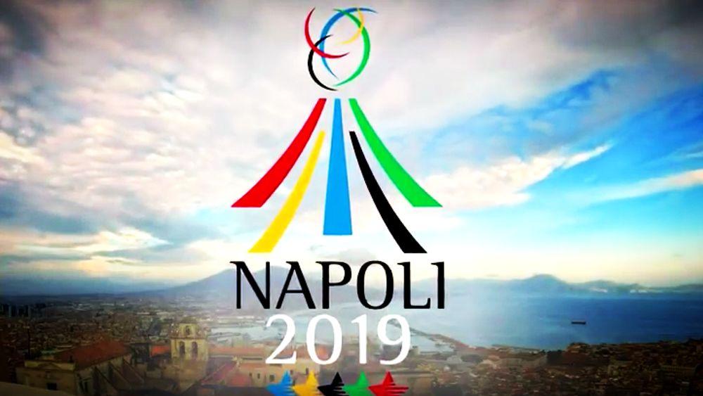 universiadi a Napoli - immagine pubblicitaria dell'evento
