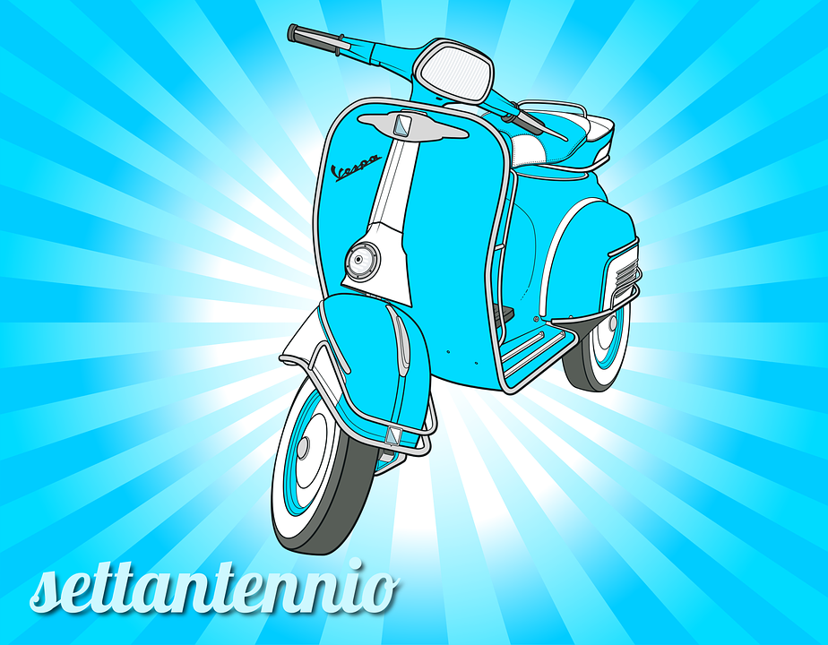 Vespa -light blue vespa