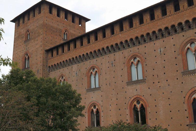 A facade of the Visconti Castle of Pavia