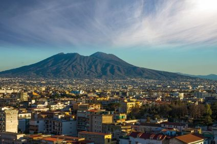 Partenope -View of Vesuvius and the city
