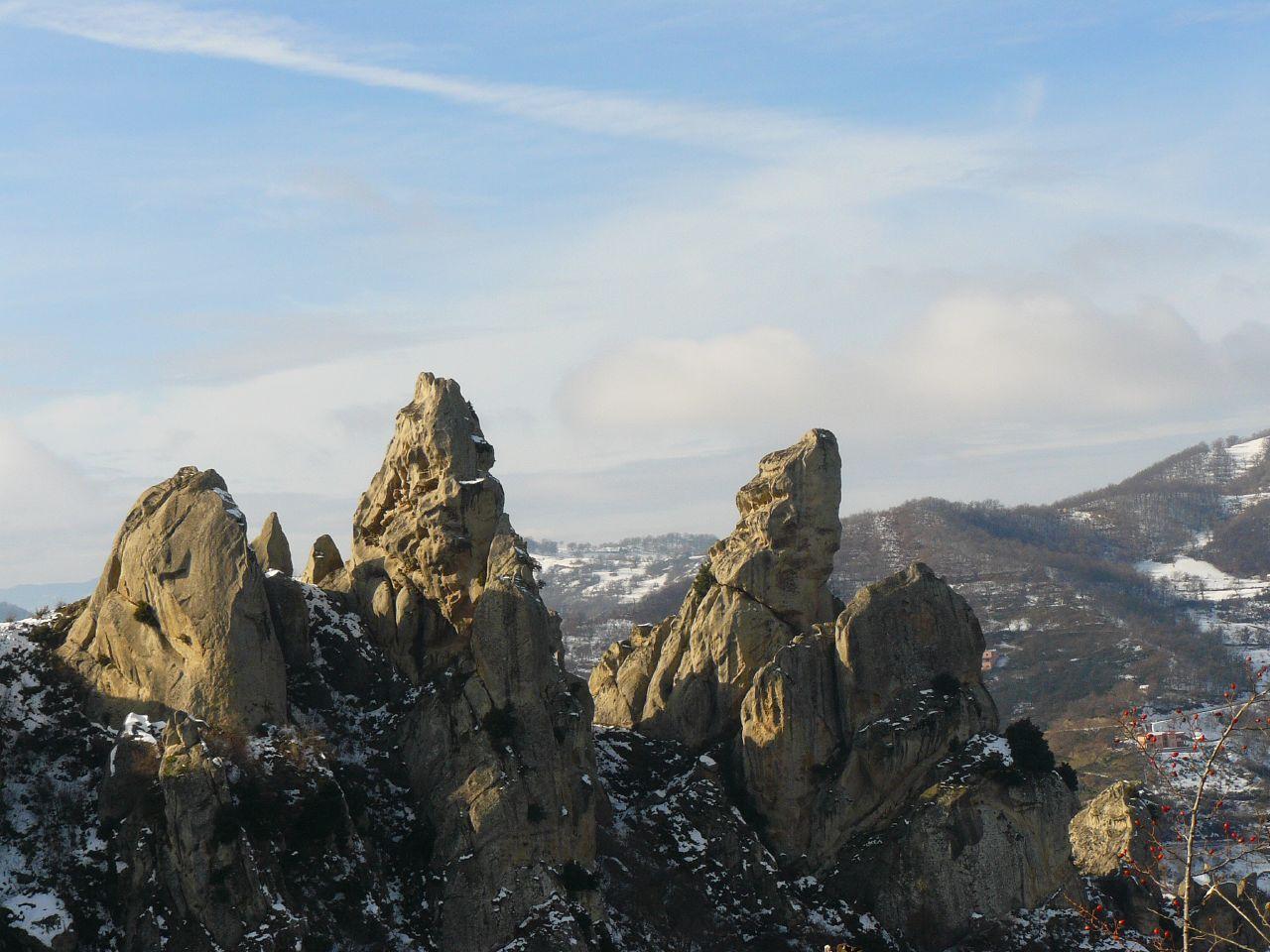 Piccole dolomiti. Le vette rocciose della Costa di San Martino, Basilicata