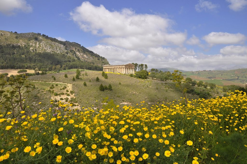 Segesta thermal baths - landscape