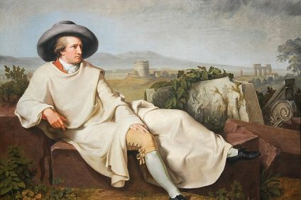 goethe portrait on armchair