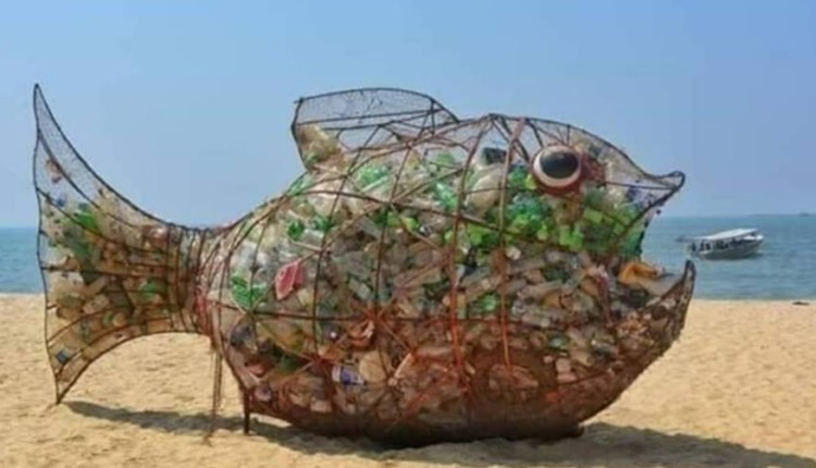 plastic-eating fish in wrought-iron